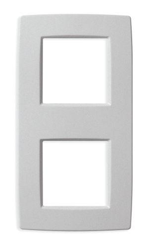 Ramka ozdobna 4M (2+2) matowy srebrny