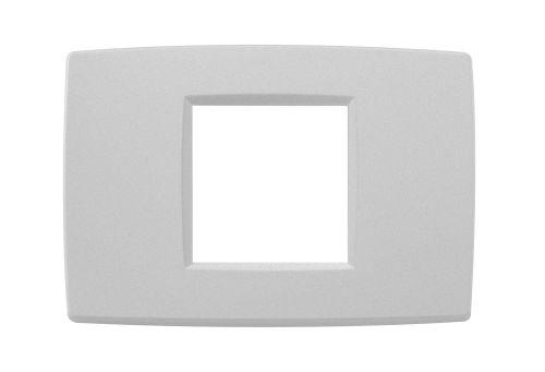 Ramka ozdobna 2M-centralna matowy srebrny