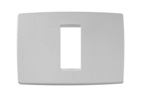 Ramka ozdobna 1M-centralna matowy srebrny