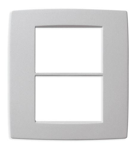 Ramka ozdobna 6M (3+3) matowy srebrny
