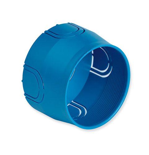 Puszka montażowa do œciany twardej fi 60mm niebieska