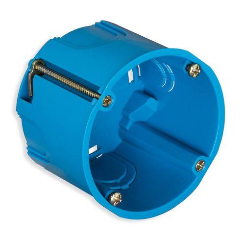 Puszka montażowa do gipsu fi 60mm niebieska